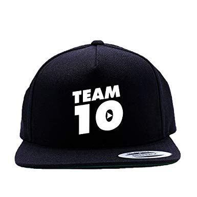Team 10 White Logo Black Cap Hat One Size Snapback Team Ten.