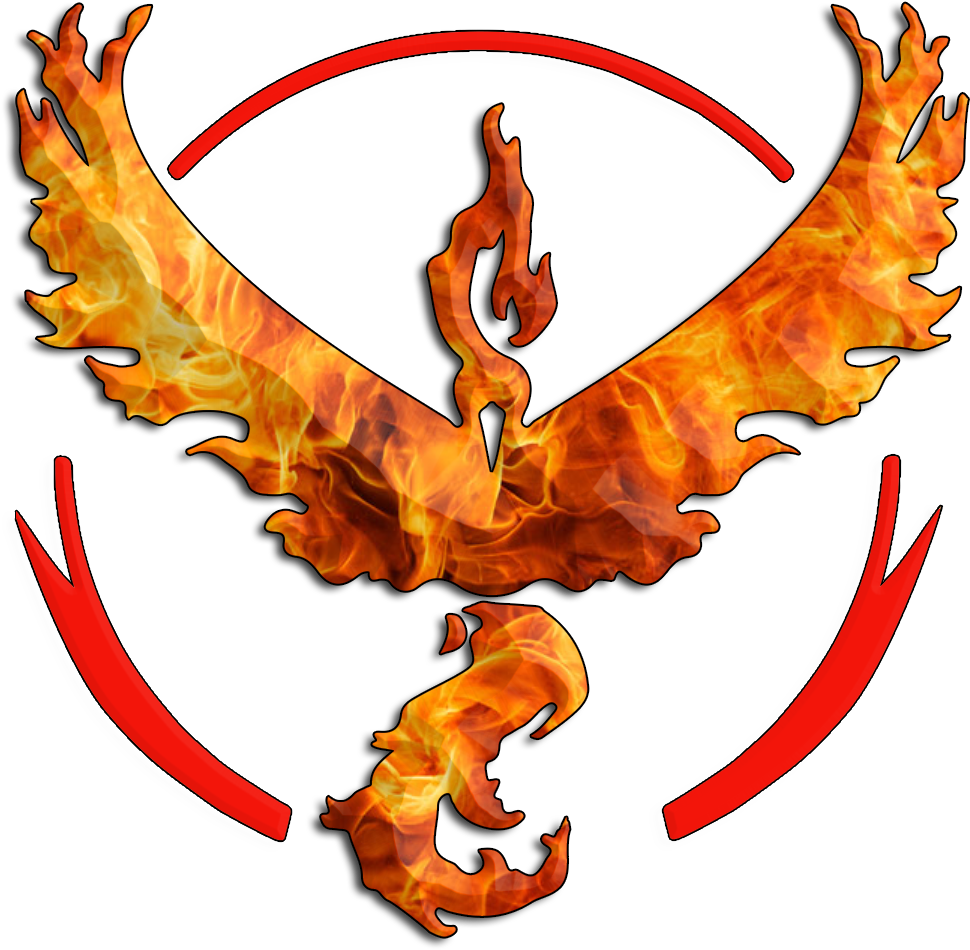 Team Valor Symbol Needed More Flames [free Use] Clipart.