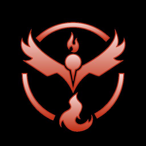 Go, pokemon, team, valor icon.