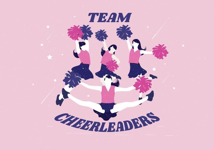 Team Cheerleaders Vector.