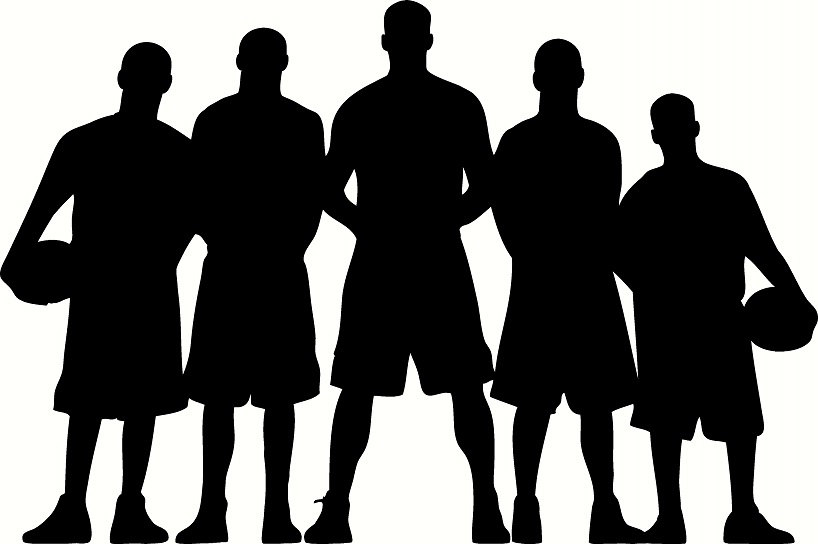 Teammates Silhouette Clipart.