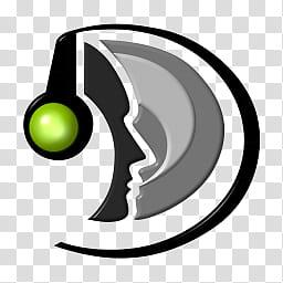 Teamspeak Dock Icon, Teamspeak Logo_, black and gray logo.