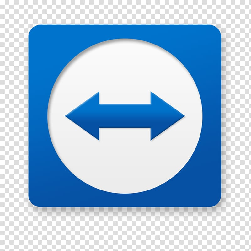 Blue and white direction logo illustration, TeamViewer.