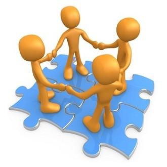 Teamwork Business Clipart.