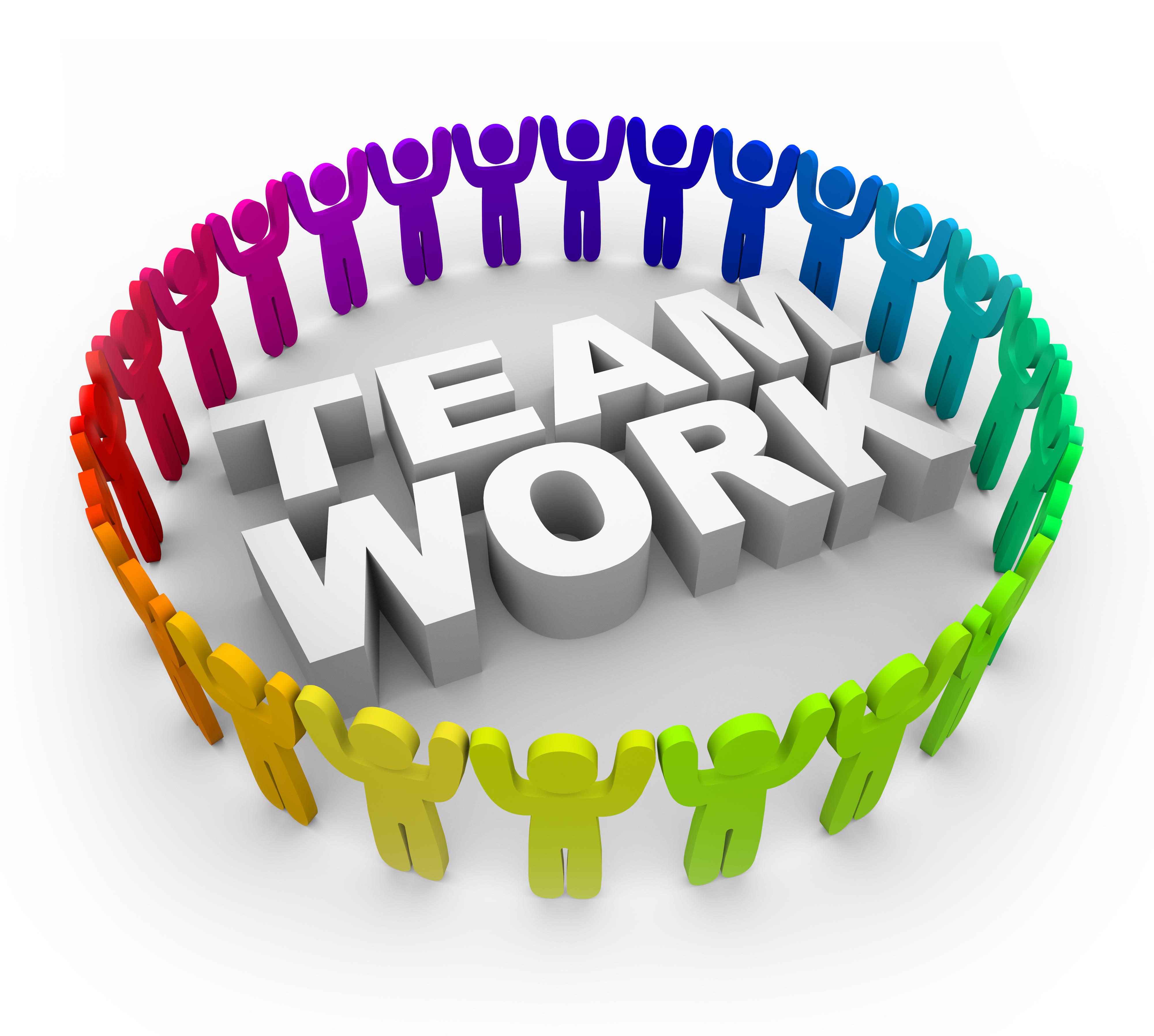 Teamwork clip art.