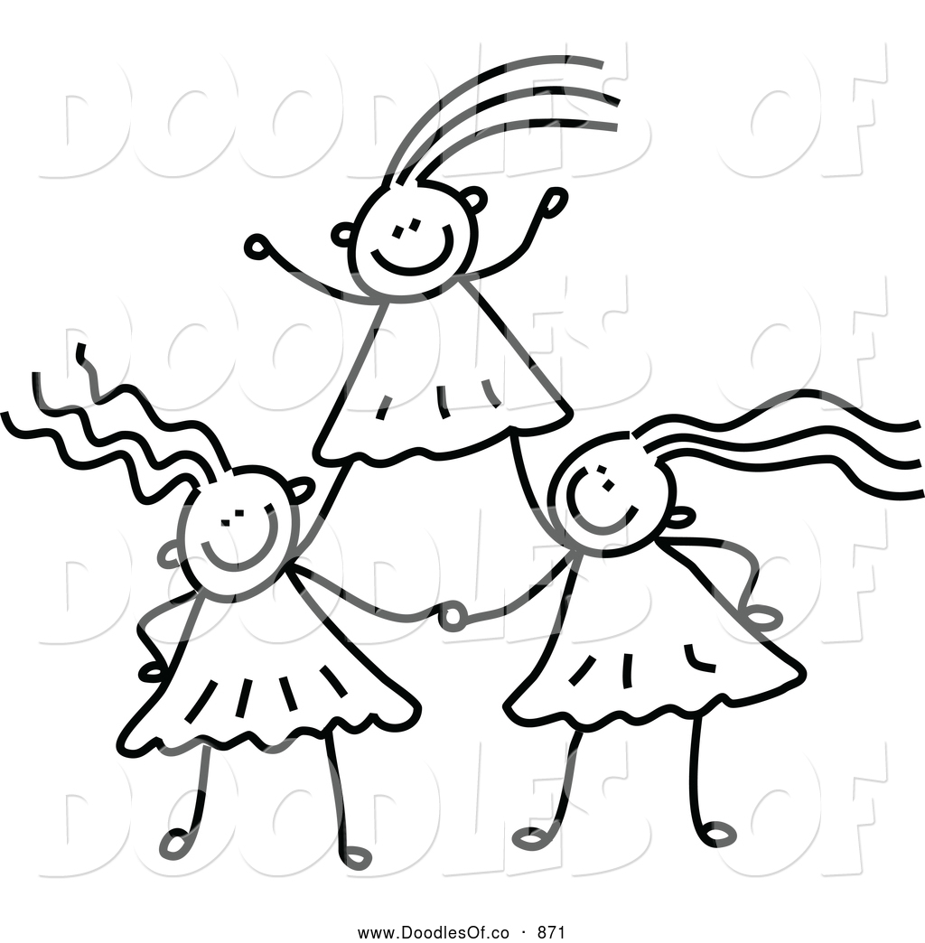 Team Building Kids Clipart Black And White.