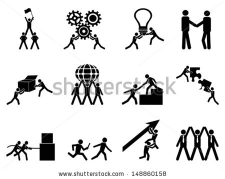 Teamwork Icon Stock Images, Royalty.