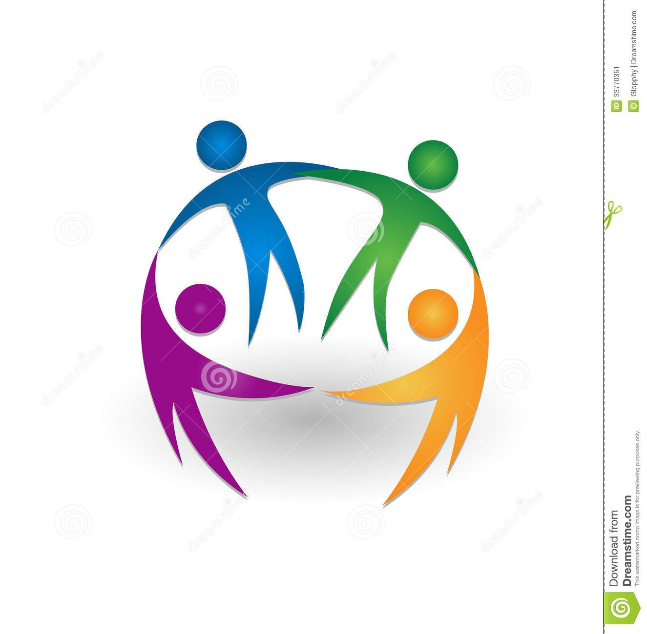 People together teamwork logo.