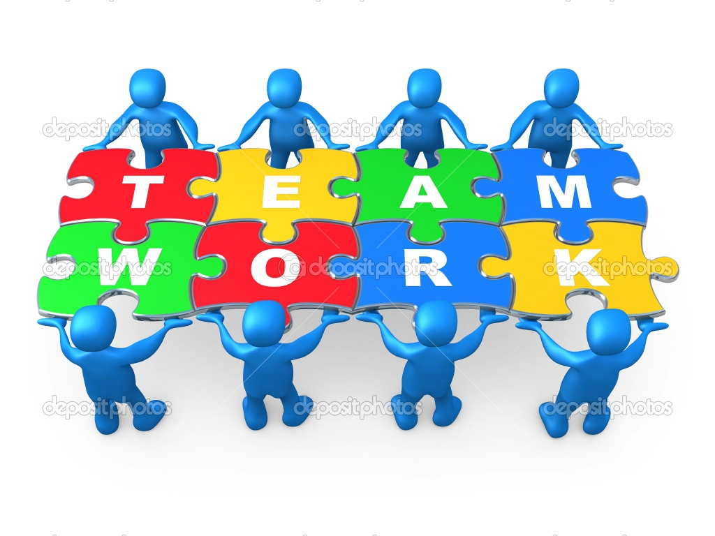 Teamwork make the dream work , There is no I in TEAM!.