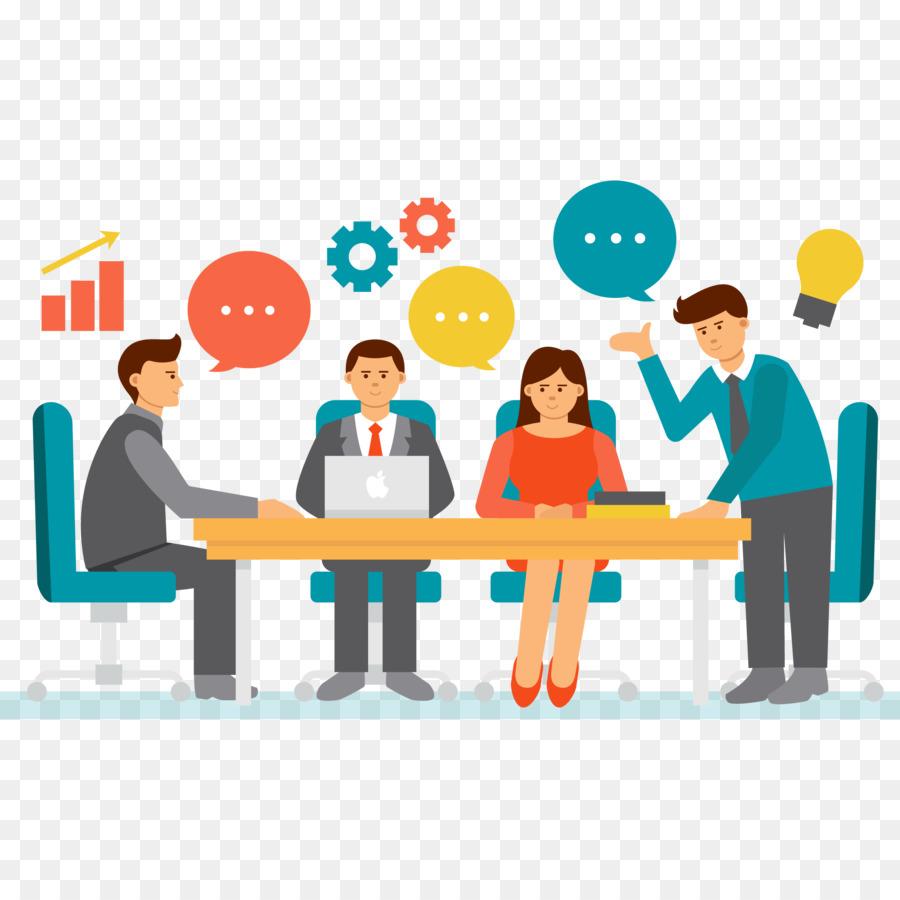 Businessperson Meeting Clip Art.