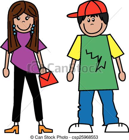 Teenager Clip Art.