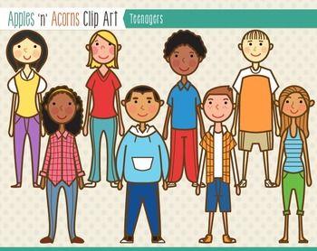 Teenagers Clip Art.