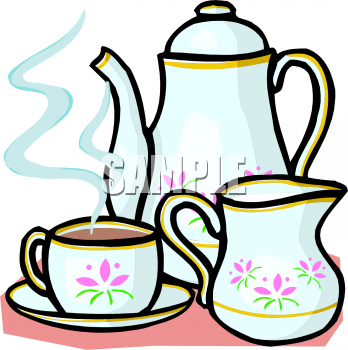 Tea Set Clipart.