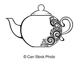 Teapot clipart #1