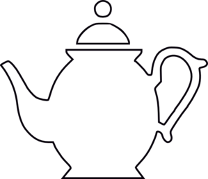 Image result for outline drawing of a teapot.