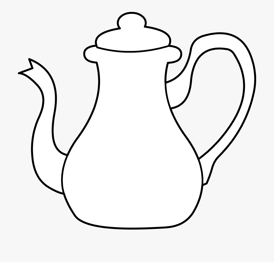 Teacup Clipart Black And White.