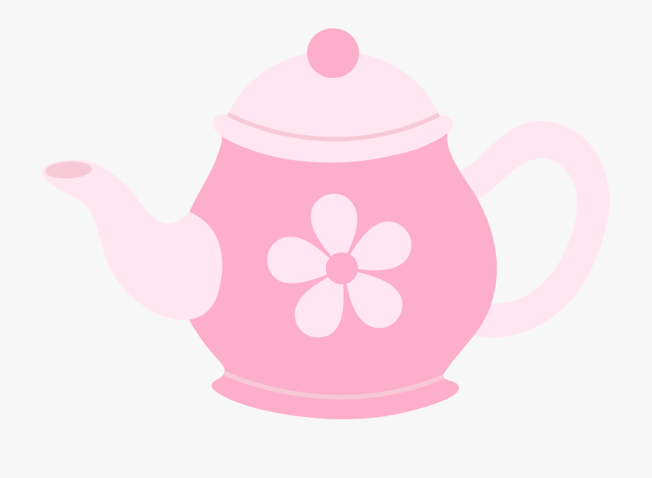 Pink Teapot With Flower.