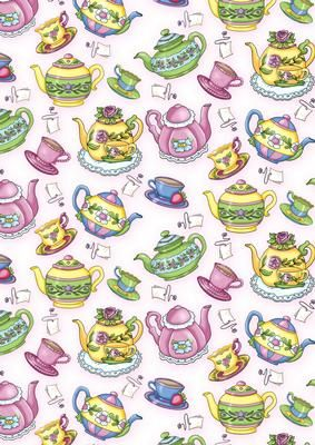 FREE Teapot Background on Craftsuprint designed by Annie.