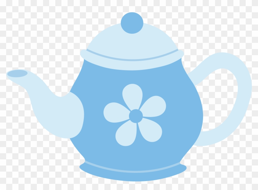 Blue Teapot With Flower.
