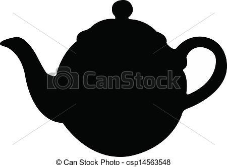 EPS Vector of tea pot silhouette vector.