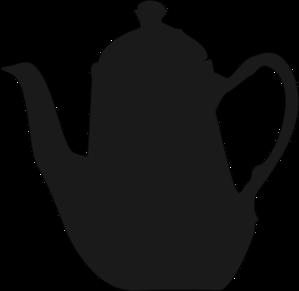 Teapot silhouette clipart.