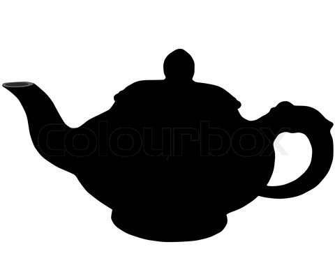 Teapot Silhouette Clip Art.