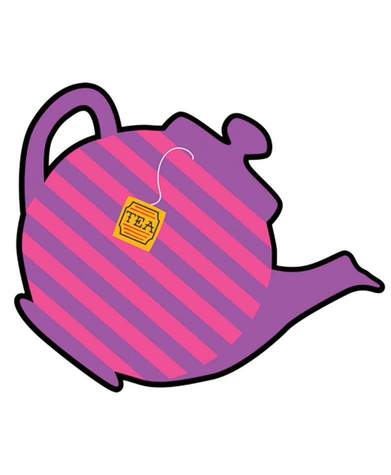 Mad Hatter Tea Party Teapot Cut.