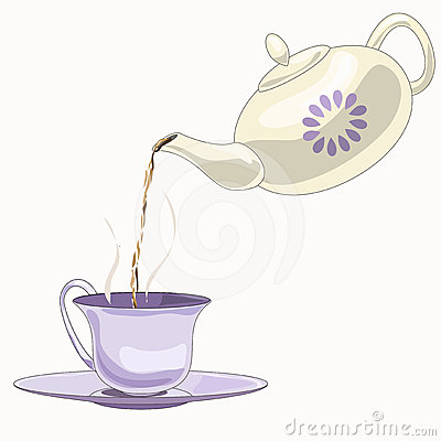 Teapot And Cup Clipart.