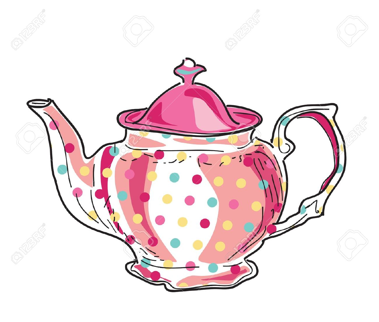 Teapots clipart - Clipground