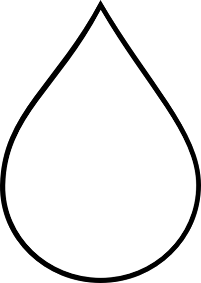 Tear drop clipart.