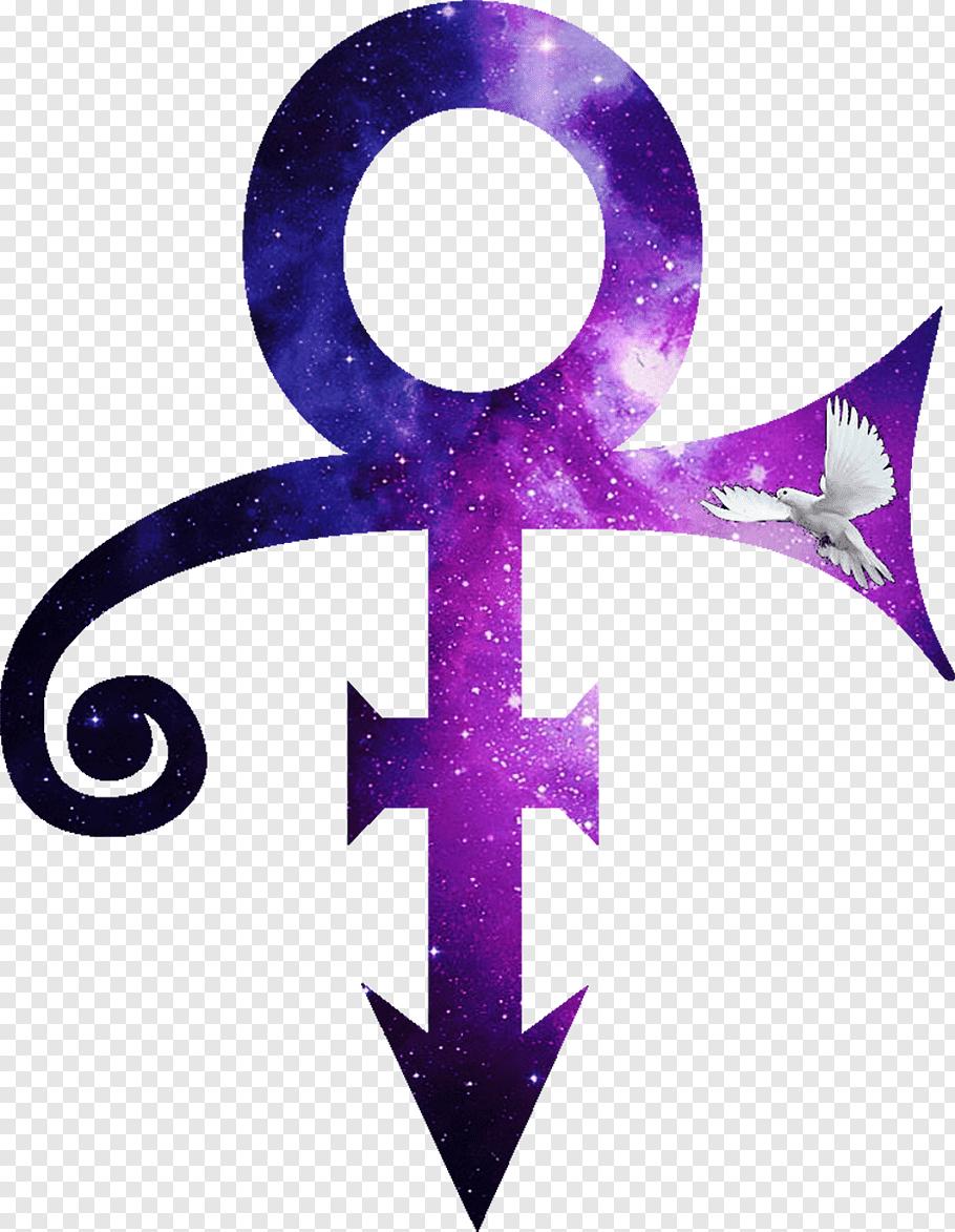 Purple peace sign, Love Symbol Album Purple Rain Music.