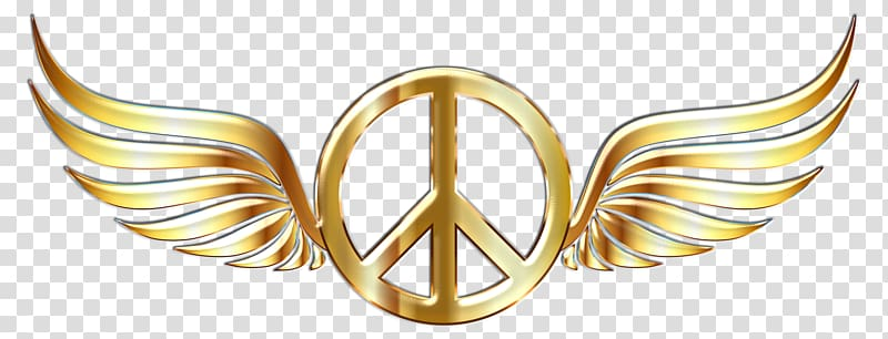 Peace symbols Gold , peace symbol transparent background PNG.