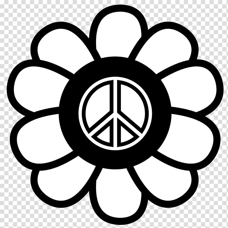 Coloring book Flower Adult Child, Printable Peace Sign.