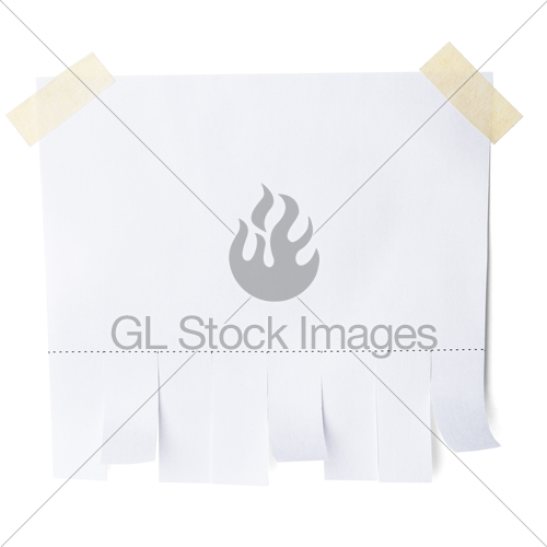 Blank White Paper With Tear Off Tabs · GL Stock Images.