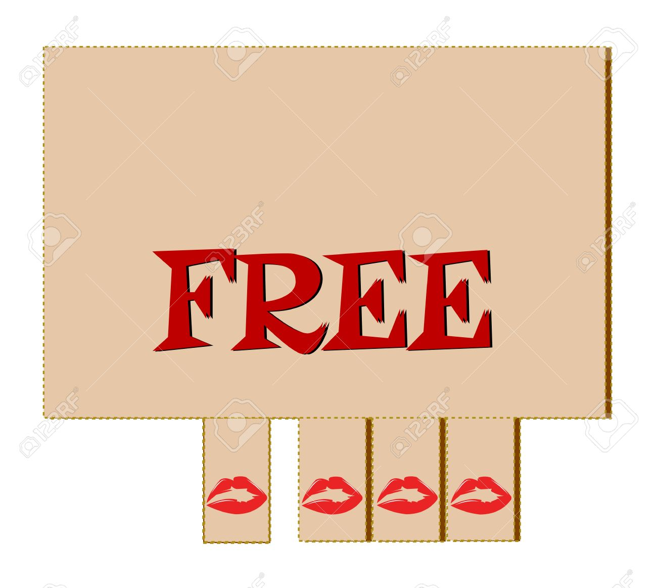 Free Kiss Tear Off Tabs Royalty Free Cliparts, Vectors, And Stock.