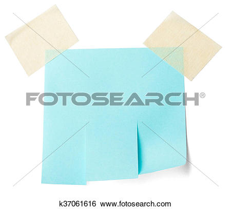 Stock Images of Blank blue paper with tear off tabs k37061616.