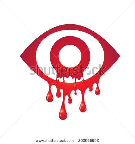 Tearing out blood eye clipart.