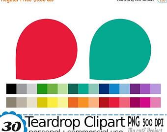 50 Rainbow Tear Drop Frame Clipart, Teardrop Digital illustrations.