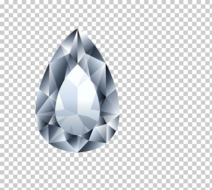 Diamond Crystal Ring Brilliant, Teardrop.