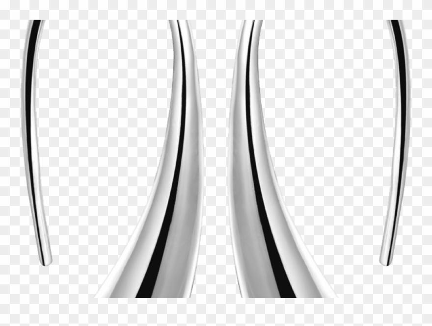 Sterling Silver Teardrop Earrings.