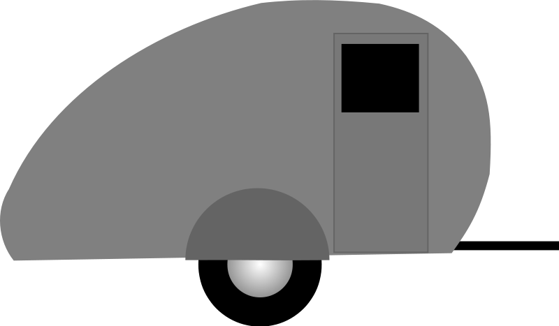 Free Clipart: Teardrop trailer.