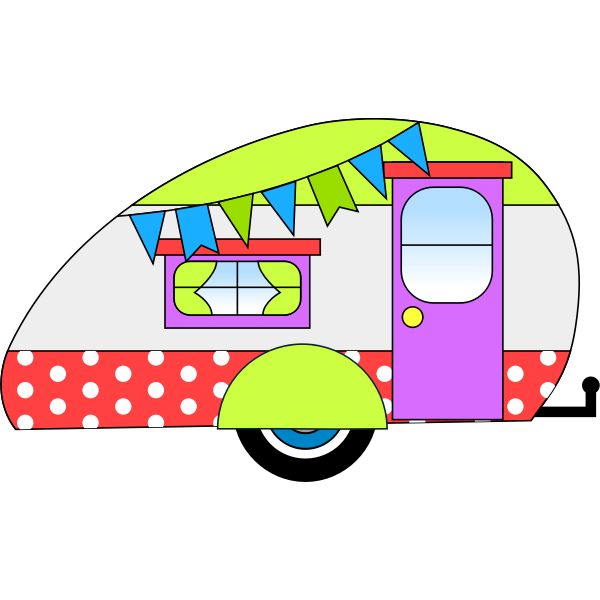 Teardrop trailer.