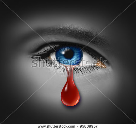 Tears Of Blood Stock Images, Royalty.