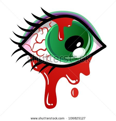 Bloody Eye Stock Images, Royalty.