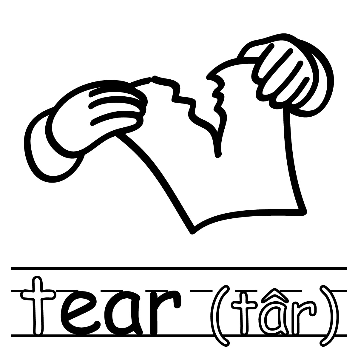 Free Tear Clipart Black And White, Download Free Clip Art.