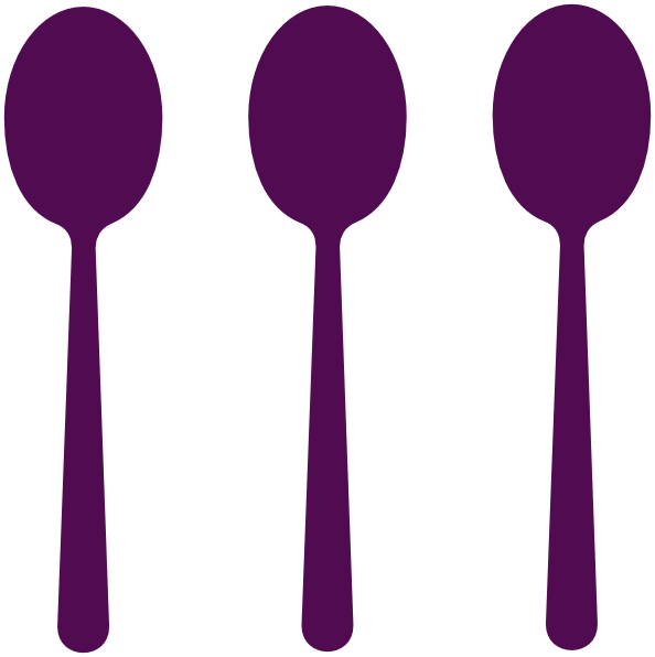 Clip Art Spoon Sizes Teaspoon.