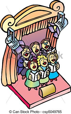 Clipart Vector of Choir.
