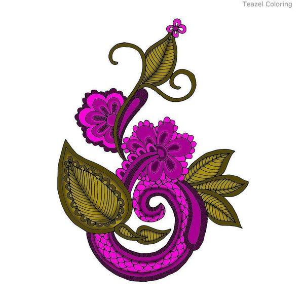 "Teazel on Twitter: ""Purple/pink organic coloring from Jamie."