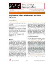 New insights in bilirubin metabolism and their clinical.