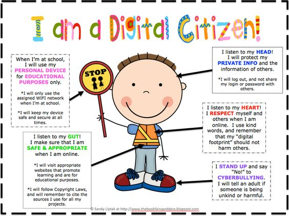 Awesome Digital Citizenship Poster for Young Learners.